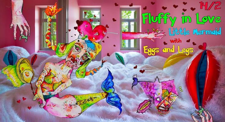 TextMe_FluffyLibrary // Fluffy in Love_Little Mermaid with Eggs and Legs