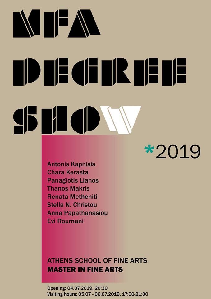 MFA Degree Show 2019